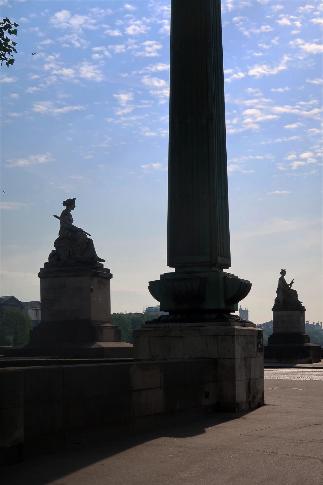 La place de la Concorde, avril2020.