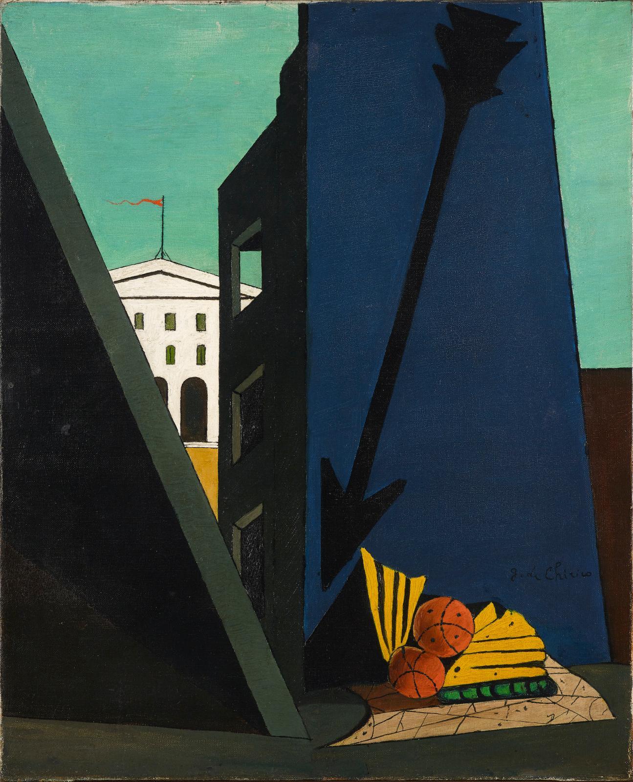 De Chirico (1888-1978), Composition métaphysique, 1914, oil on canvas, 61 x 50 cm, private collection.Copyright: Etro collection/M
