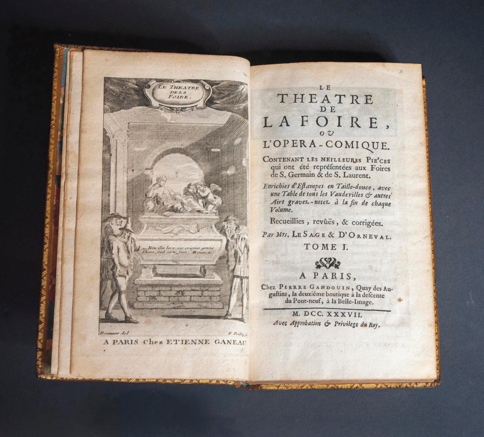 Alain-René Lesage, Jacques-Philippe d'Orneval et Louis Fuzelier,Le Théâtre de la foire ou l'Opéra-Comique. Contenant les meilleures pièce