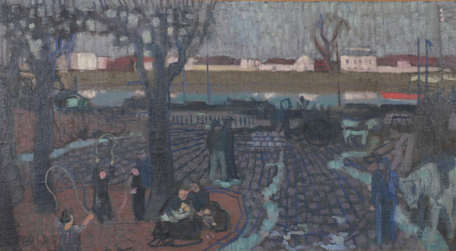 Impossible d'évoquer une vente consacrée àPont-Aven sans marines. Maxime Maufra(1861-1918) est l'un des plus adroits dans ce domaine, co