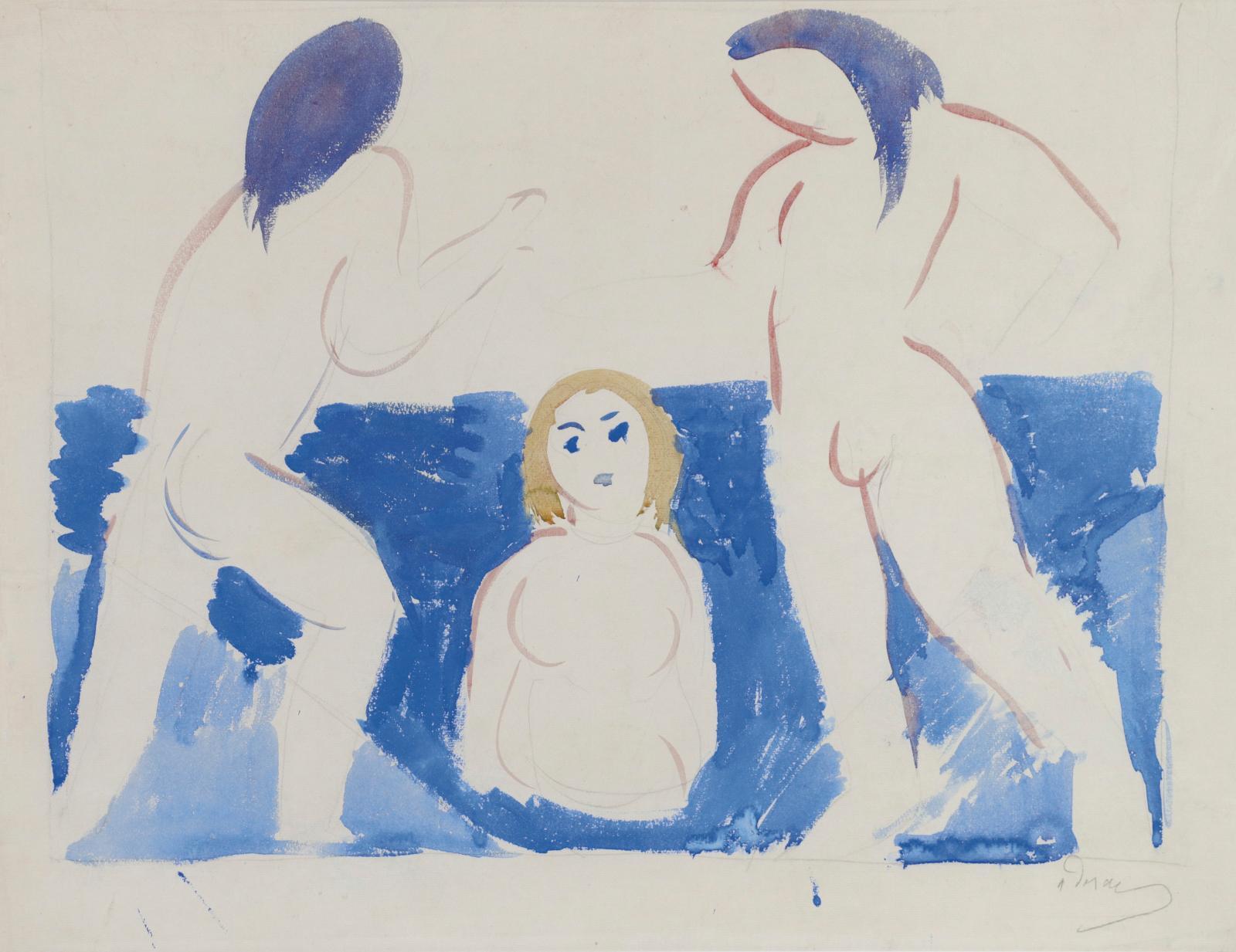 André Derain (1880-1954) a marqué de son empreinte la peinture moderne européenne, par son action au cœur du fauvisme. Datée très tôtdans