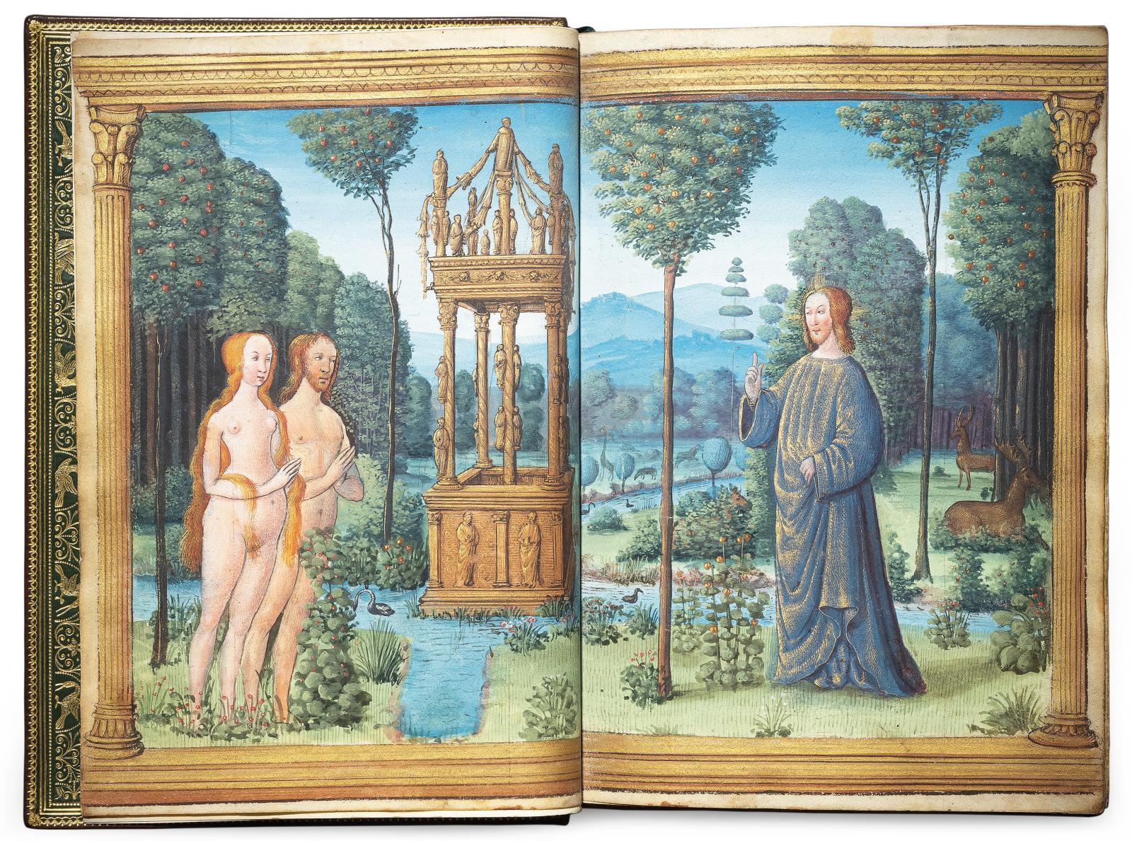 France, très certainement Bourges, vers 1500-1510. Livre d'heures à l'usage de Rome, manuscrit en latin et en françaisenluminé sur parche