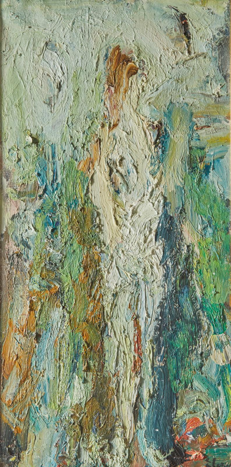 Incontournable à Lille, Eugène Leroy (1910-2000) y sera une nouvelle fois présent avec une œuvre à la frontière entre figuration et abstr