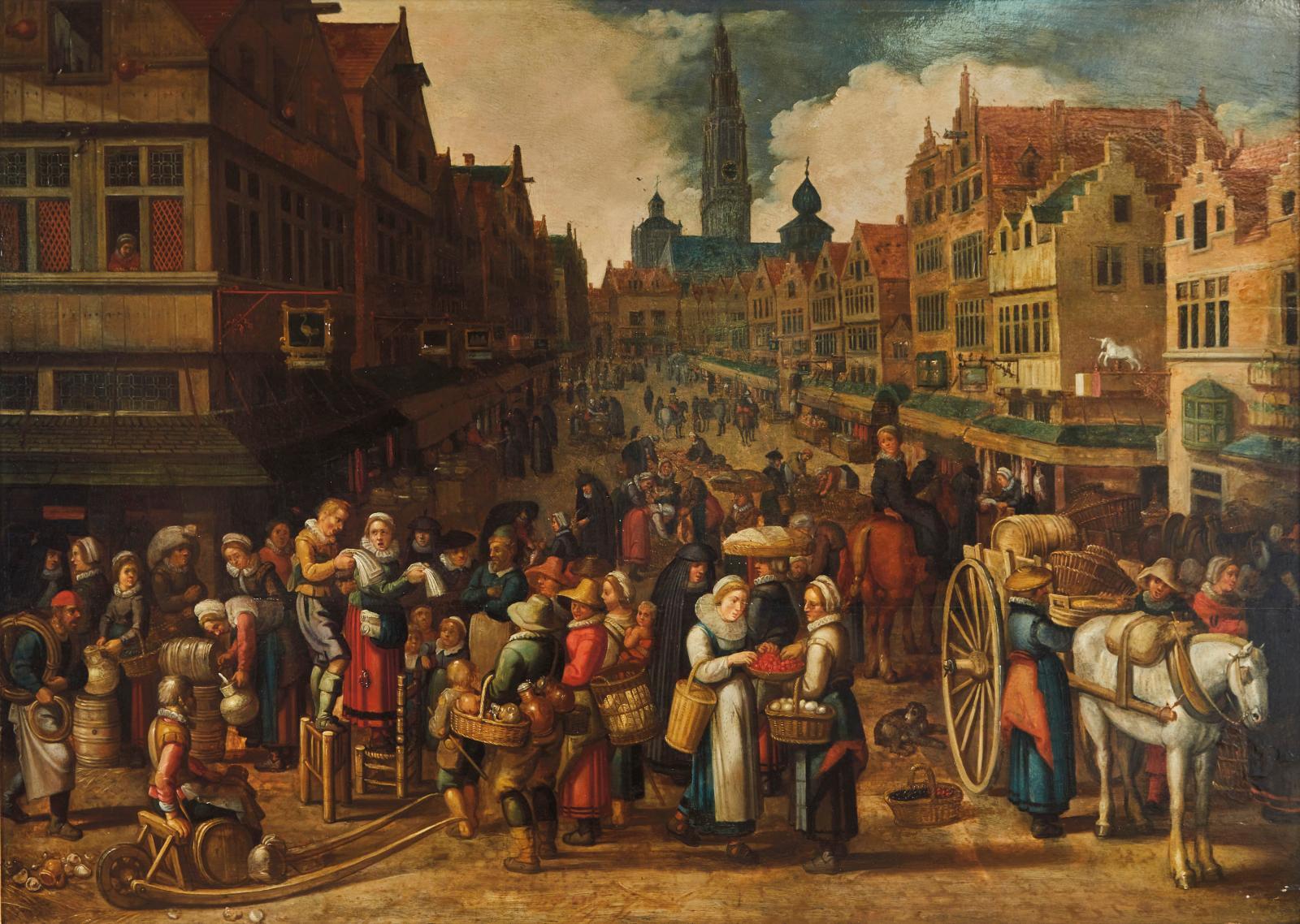 Le Flamand Erasmus deBie(1629-1675) s'est formé dans l'atelier de David RijckaertIII avant d'être admis franc-maître, en1646, à Anvers