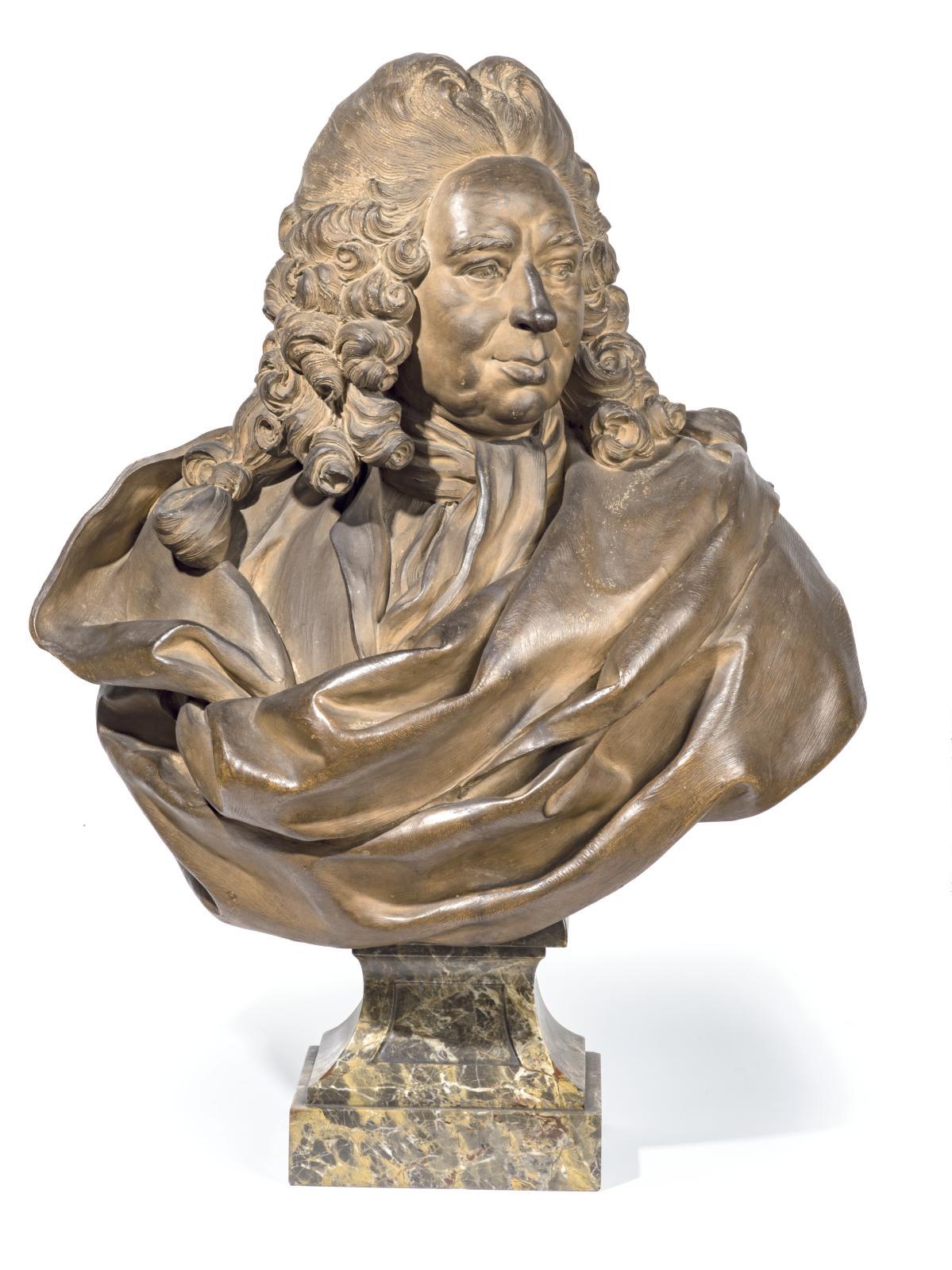 Pierre-François Berruer (1733-1797), Philippe Néricault, dit Destouches(1680-1754), terre cuite, 1779, h.80cm.Adjugé: 46768€