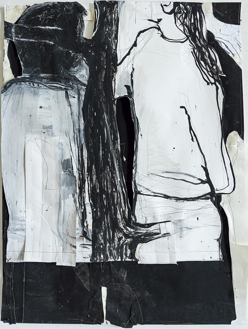 Jean-Charles Blais(né en 1956), Sans titre, 2018, gouache sur papier, 100x77cm.© Jean-Charles Blais, Courtesy de l'artiste et de la ga