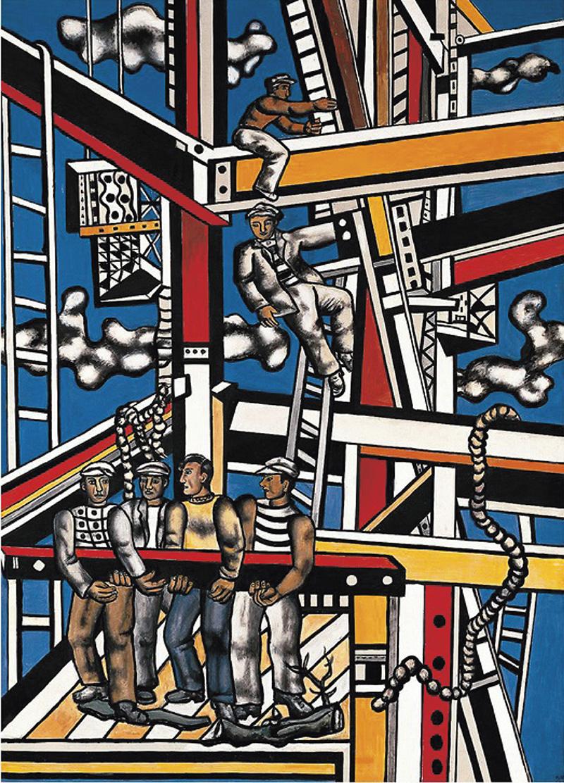 Fernand Léger, Les Constructeurs (Contrastes, 1959), 1951, 49x34,5cm (détail), collection Jacqueline Hyde. ©Adagp, 2020