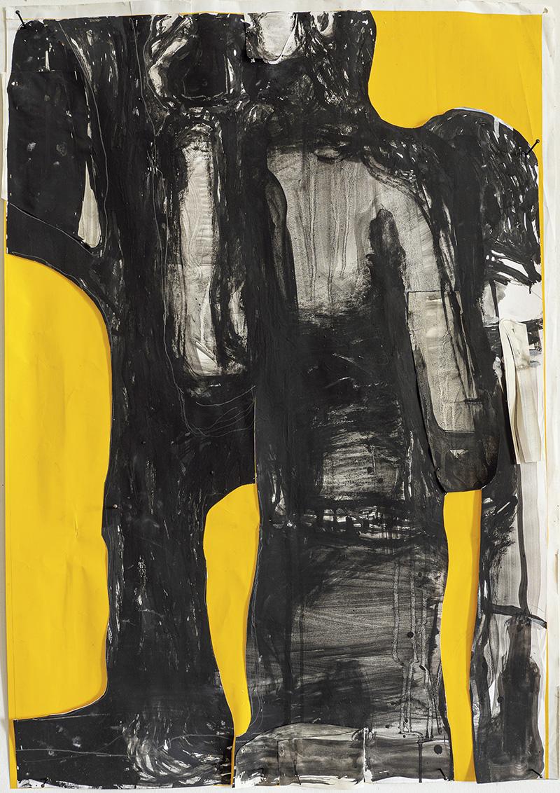 Sans titre, 2018-2019, 95 x 67 cm.Courtesy de l'artiste et de la galerie Catherine Issert.