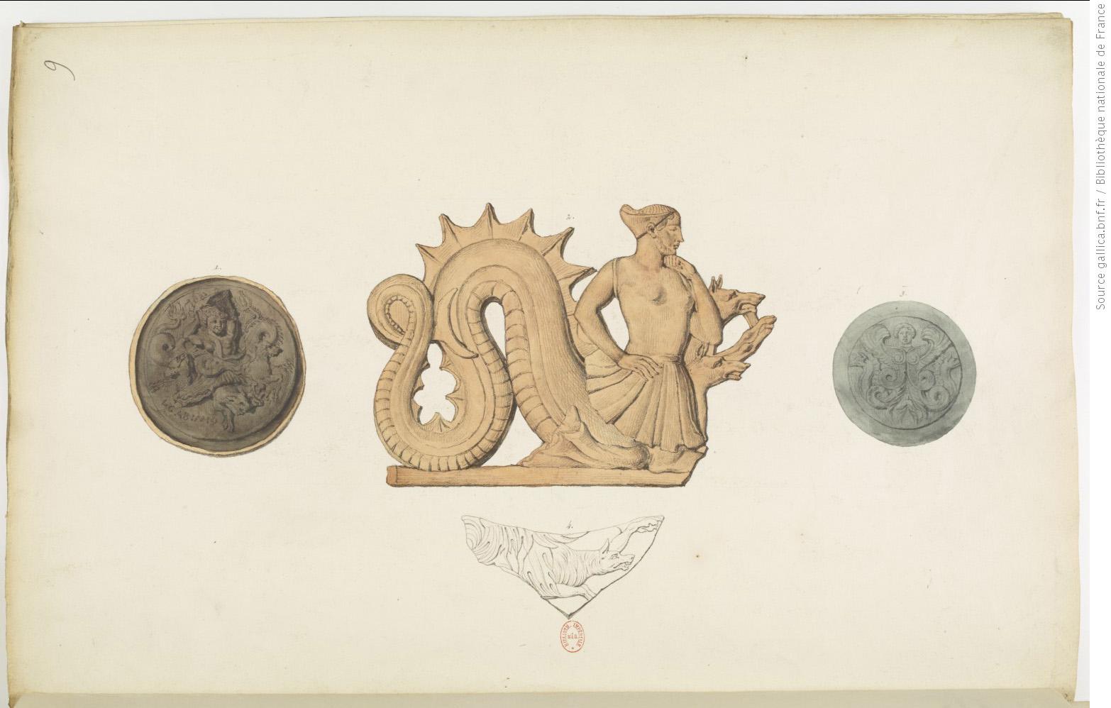 Recueil des monuments antiques, volume 1, planche 21. © Bibliothèque nationale de France