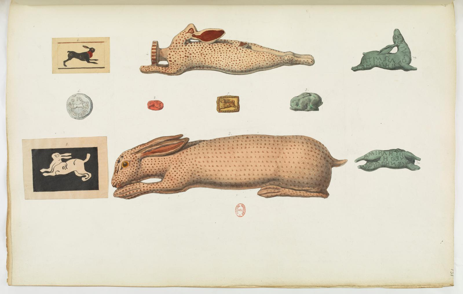 Recueil des monuments antiques, volume 6, planche 131. © Bibliothèque nationale de France