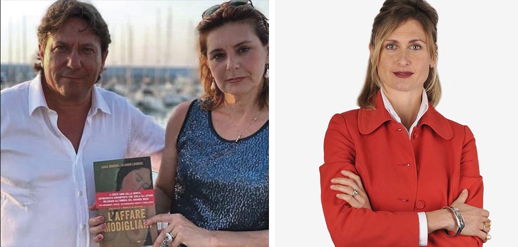 Claudio Loiodice (à gauche, avec la coautrice Dania Mondini), ancien policier devenu criminologue, et Lavinia Savini (à droite), avocate b