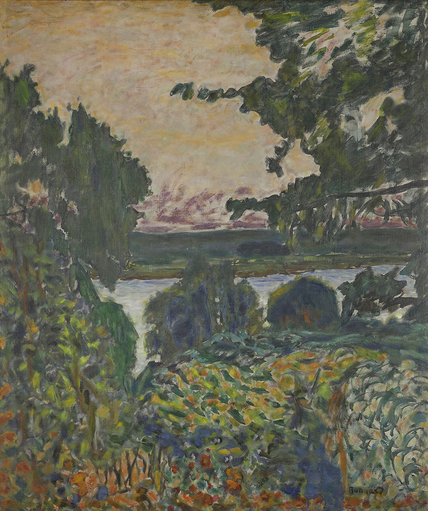 Pierre Bonnard, The Seine at Vernon, 1915. Oil on canvas, 80 x 68 cm.© GIVERNY, MUSEE DES IMPRESSIONNISMES/ PHOTO : JEAN-MICHEL  DROUE