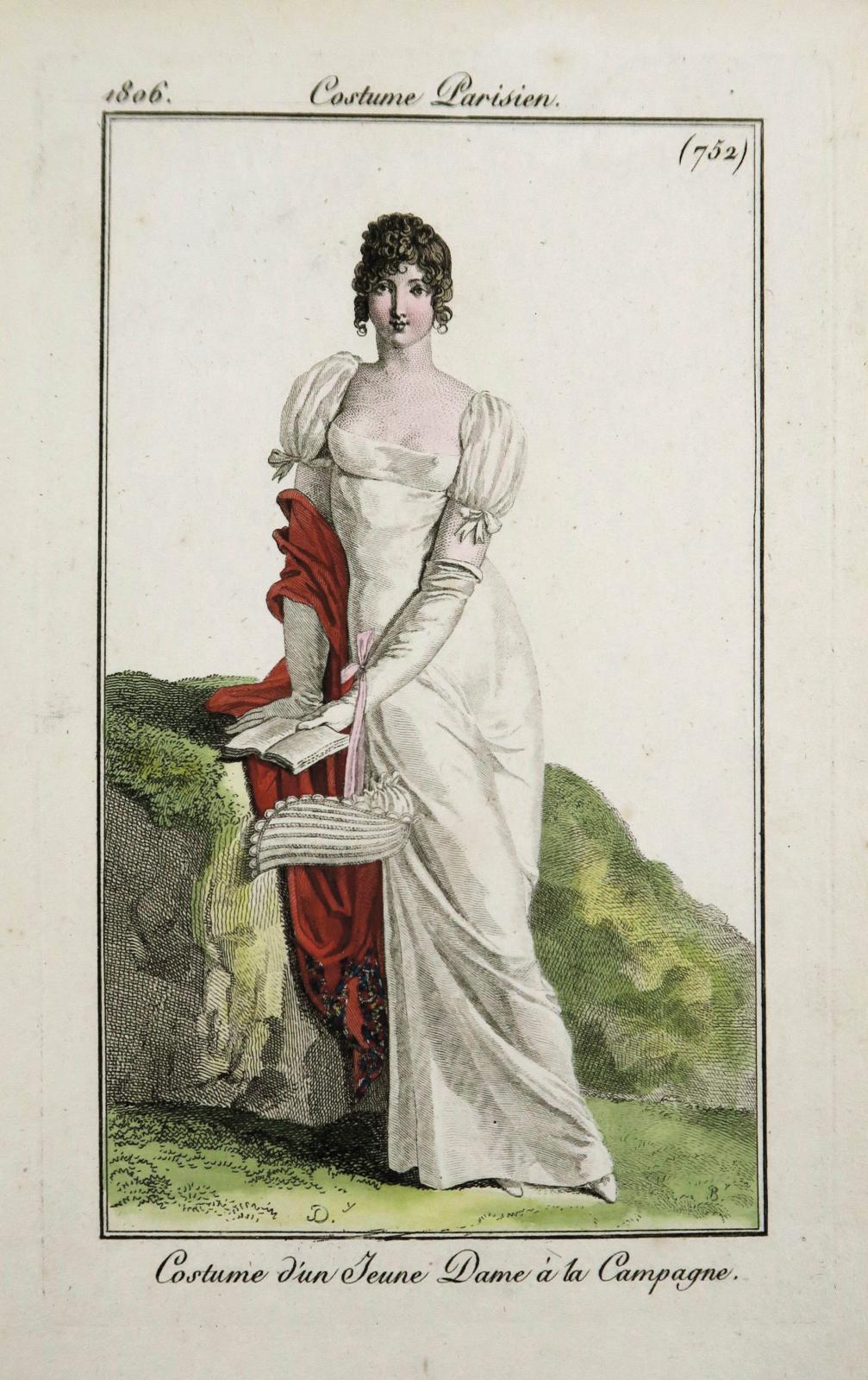 ensemble de1730 gravures de mode aquarellées parPierre-Antoine Leboux deLa Mésangère, 1797-1839. Adjugé: 7655 €