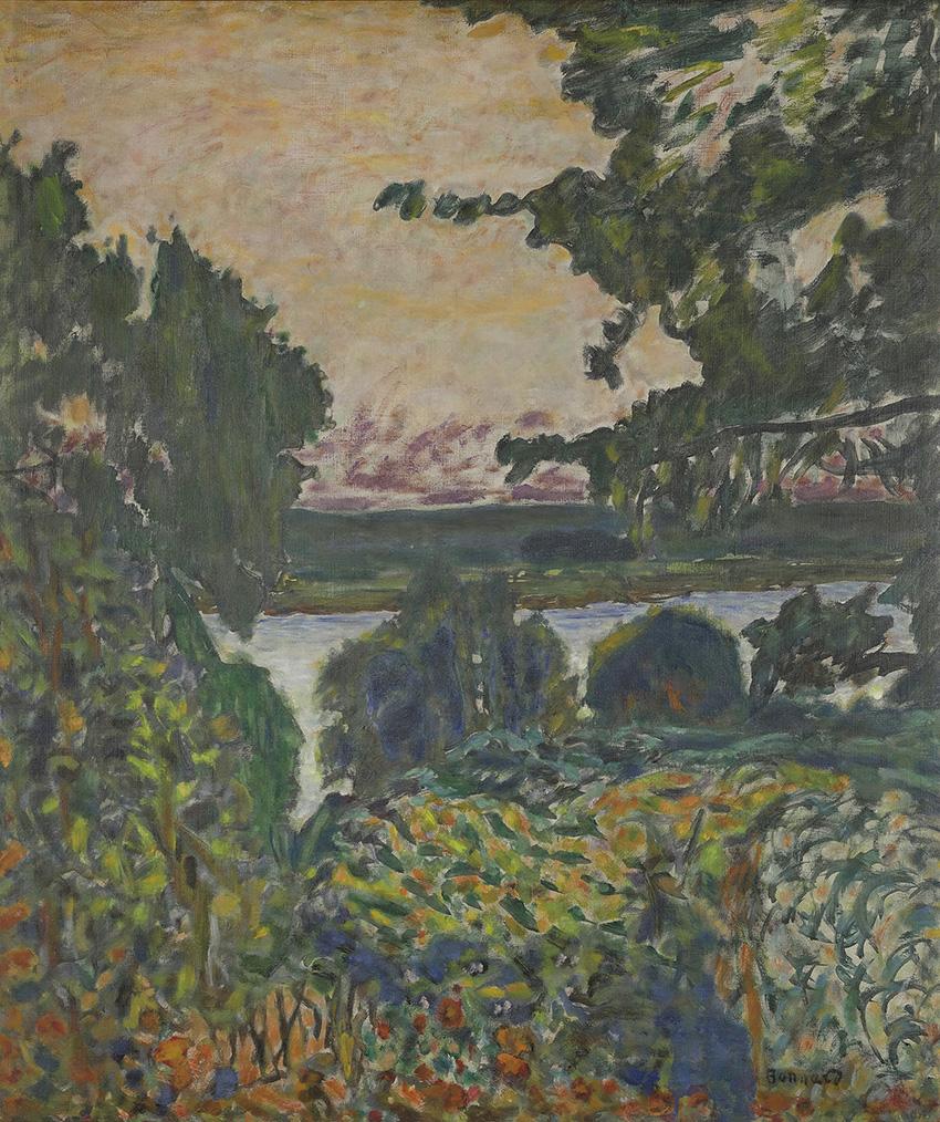 Pierre Bonnard, La Seine à Vernon, 1915, huile sur toile, 80x68cm.© Giverny, musée des Impressionnismes/Photo: Jean-Michel Drouet