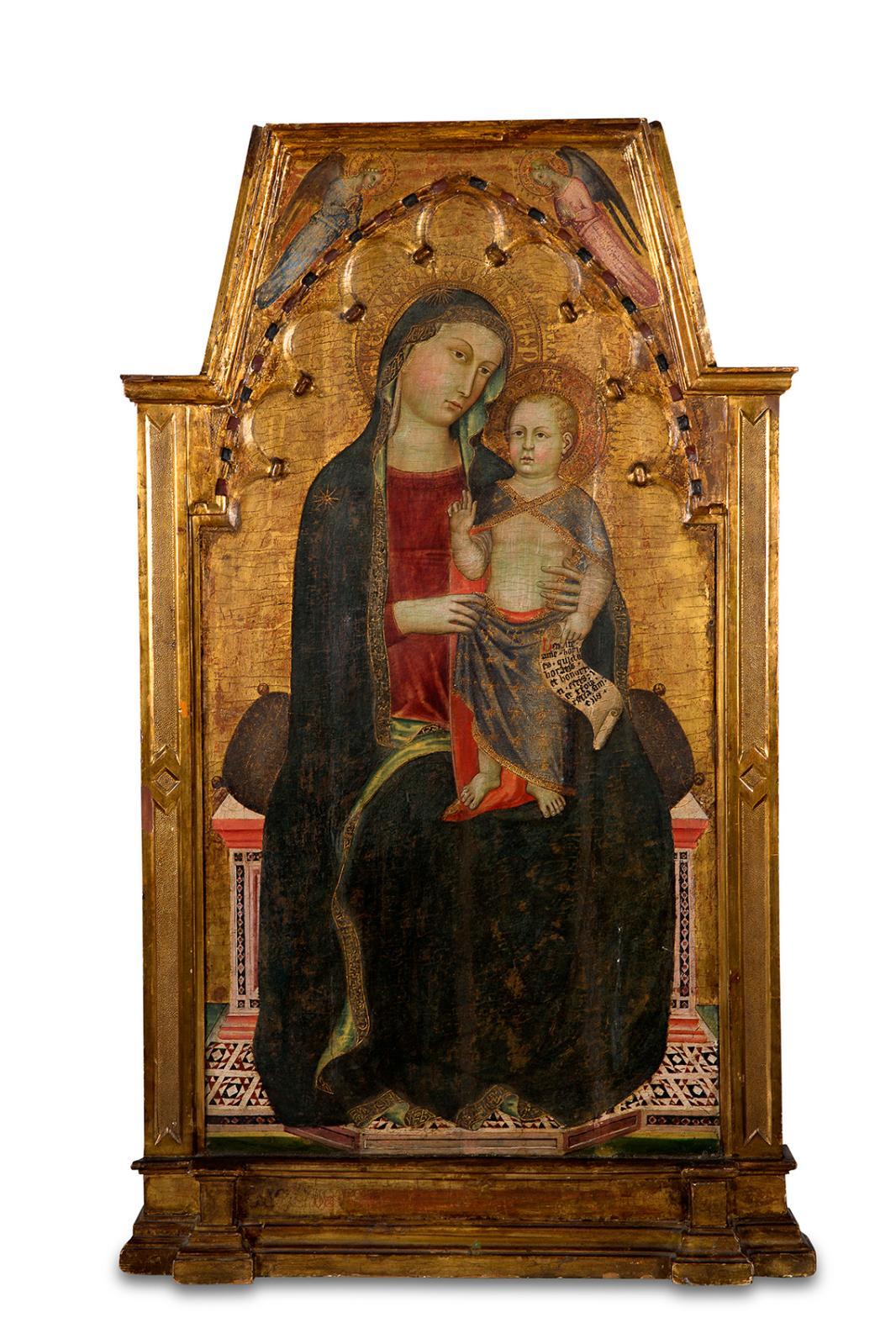 Cecco di Pietro (1330-1402), Vierge à l'Enfant, Pise, vers 1365, tempera et feuille d'or sur bois de peuplier, 110,8x63,2cm (surface to