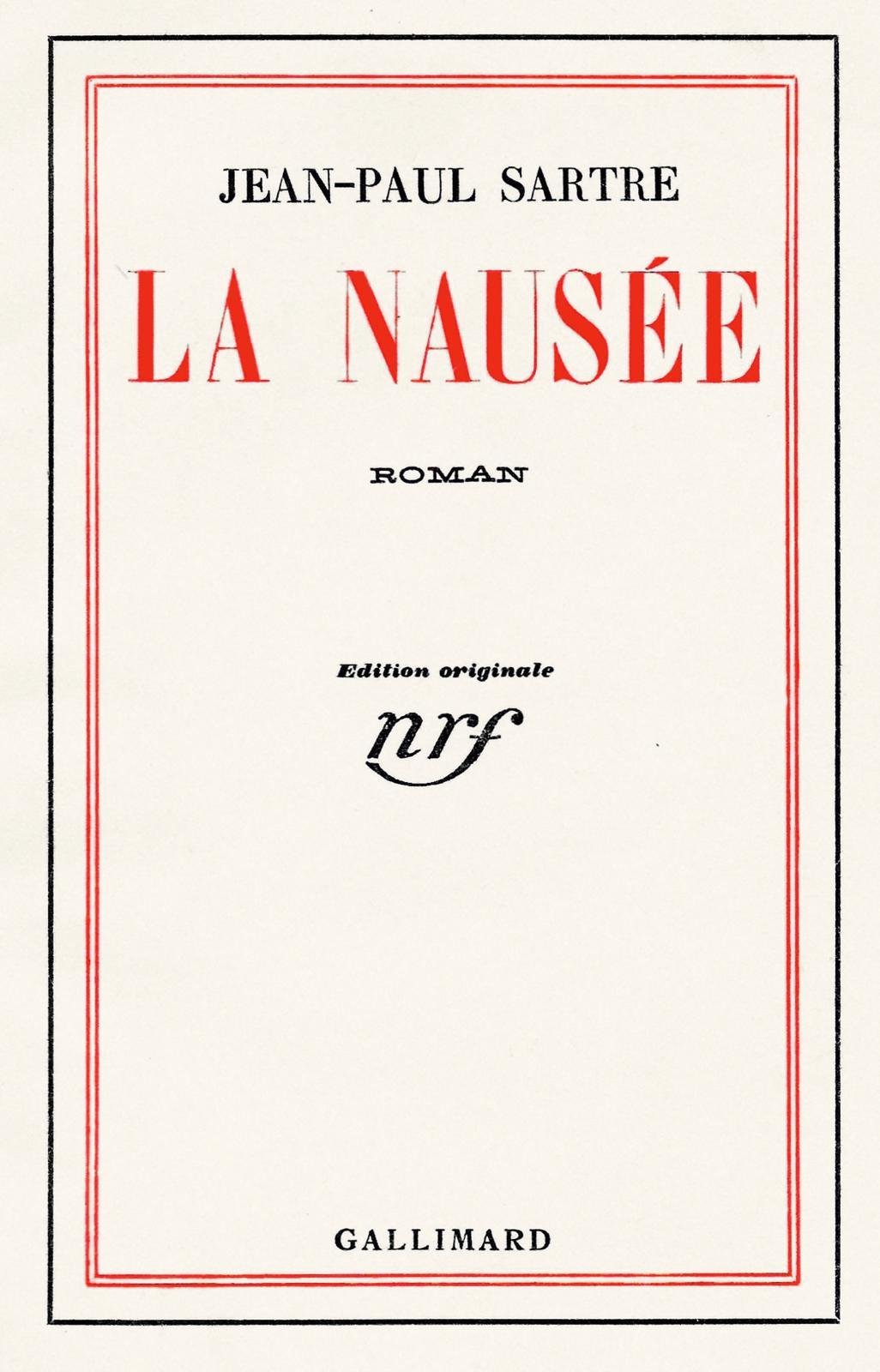 Jean-Paul Sartre (1905-1980), La Nausée, Paris, 1938, édition originale, l'un des 23 exemplaires de tête sur vélin pur fil (Bouquinerie Au