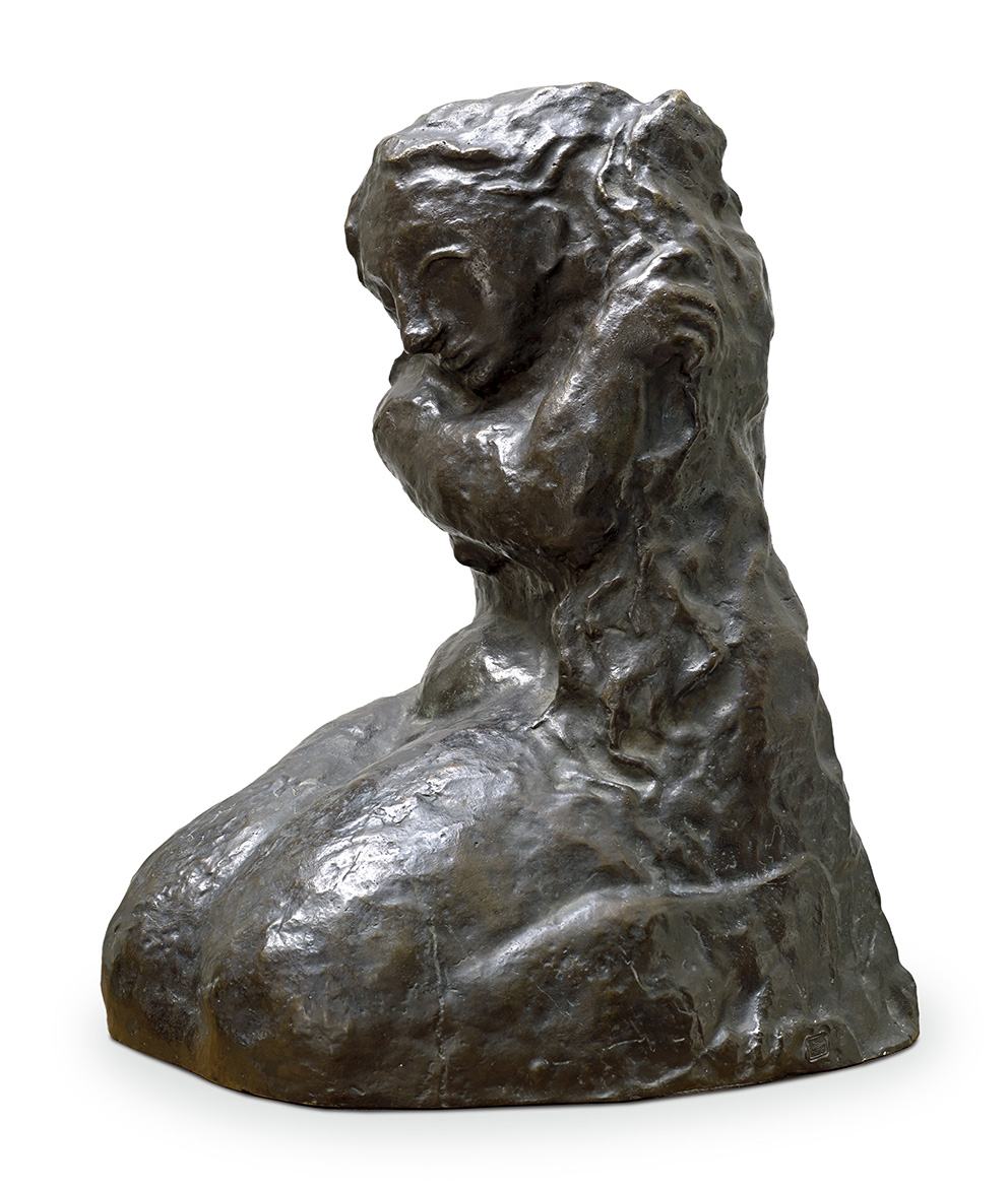 Pablo Picasso (1881-1973), Femme agenouillée se coiffant, 1906, bronze with brown patina, stamped by the foundry C. Valsuani «lost wax pro