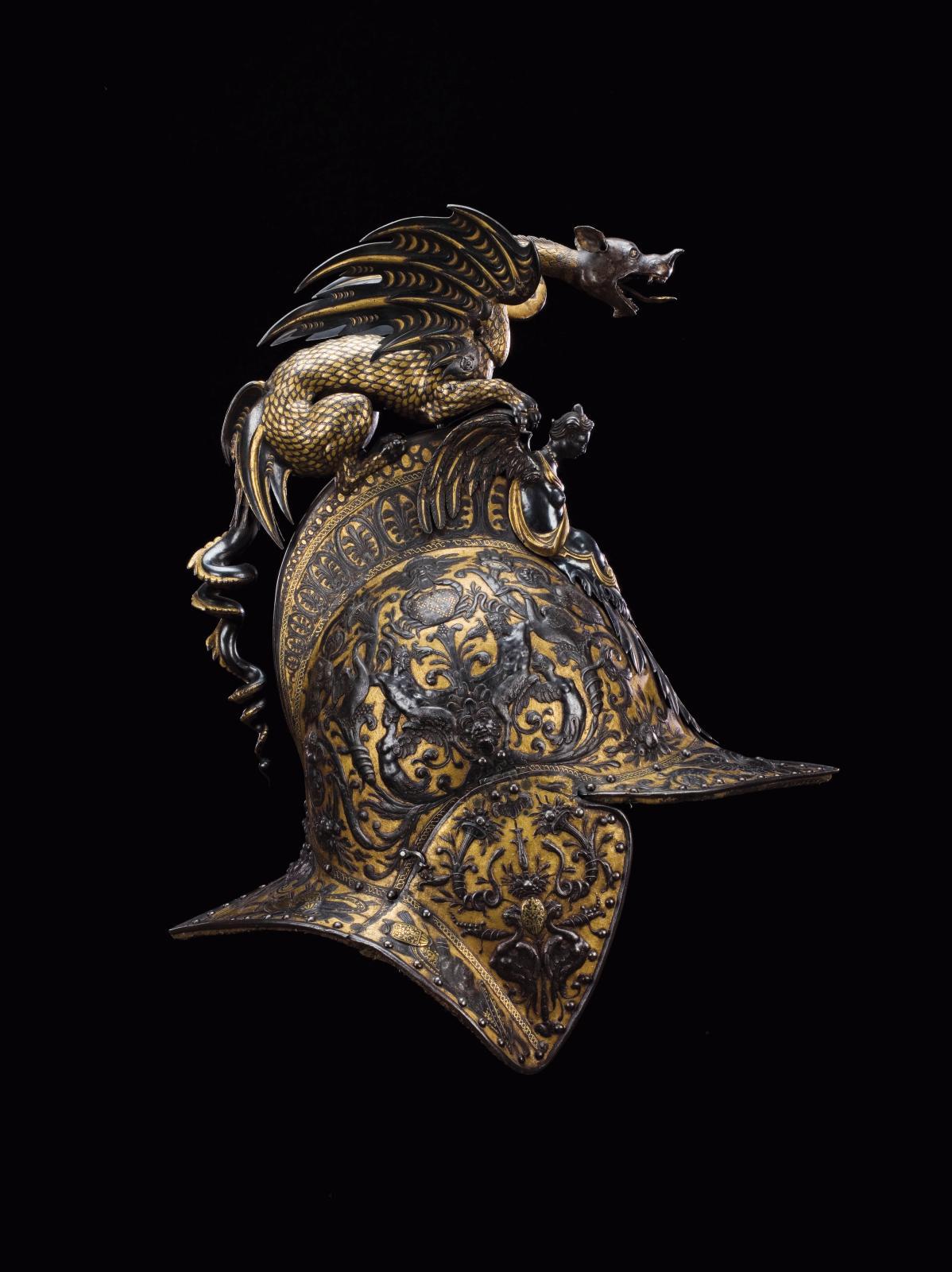 Bourguignotte de l'«ensemble à la chimère». ©Paris - musée de l'Armée, Dist.RMN-Grand Palais / Pascal Segrette