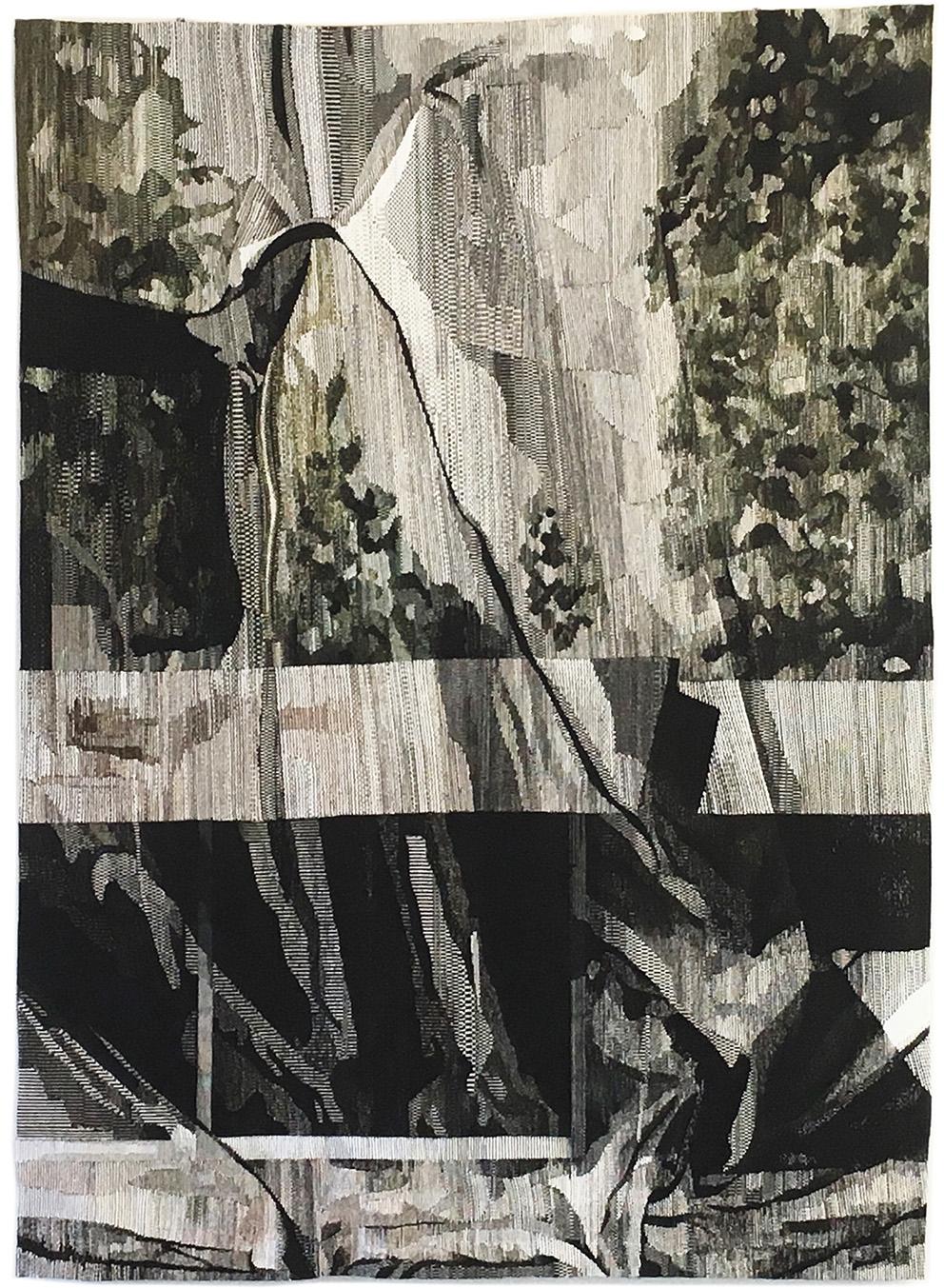 Eva Nielsen (née en 1983), Lucite, 2018, atelier Patrick Guillot, Aubusson, 300 x 220 cm.© cité internationale de la tapisserie