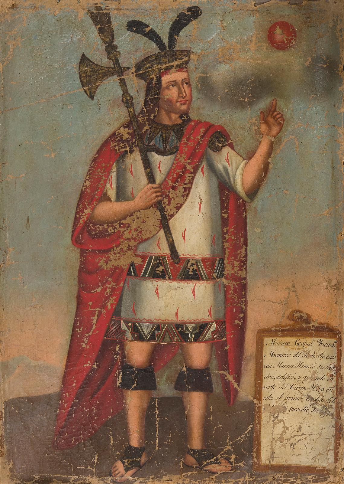 École d'Amérique du Sud du XIXesiècle, Portraits d'empereurs incas, suite de onze toiles, 55,5x41cm. Adjugé: 1291500€