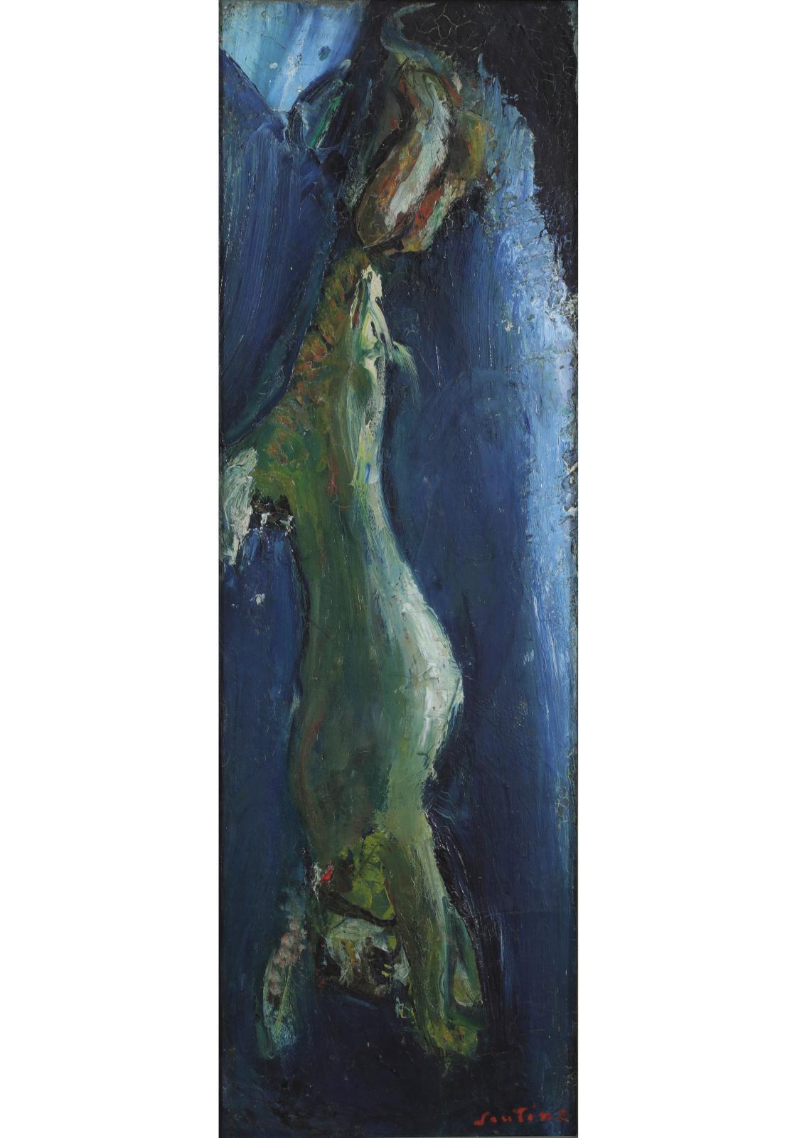 Chaïm Soutine (1893-1943), Lièvre pendu, vers 1925-1926, huile sur toile, 73x24cm, Troyes, musée d'art moderne, collections nationales