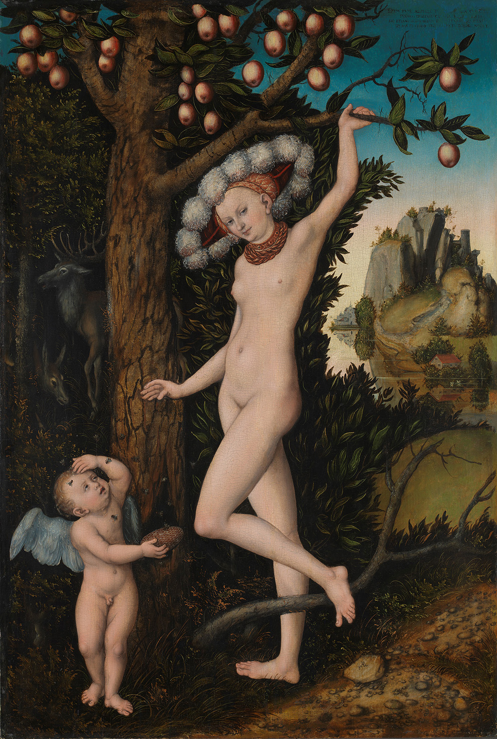 Lucas Cranach the Elder, Cupid complaining to Venus, 1526-27, oil on wood.Photograph © The National Gallery, London