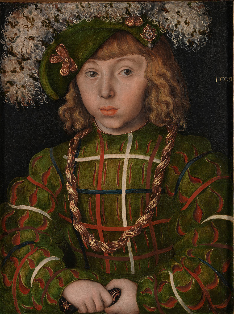 Lucas Cranach the Elder, Portrait of Johann Friedrich the Magnanimous, 1509.Photograph © The National Gallery, London.