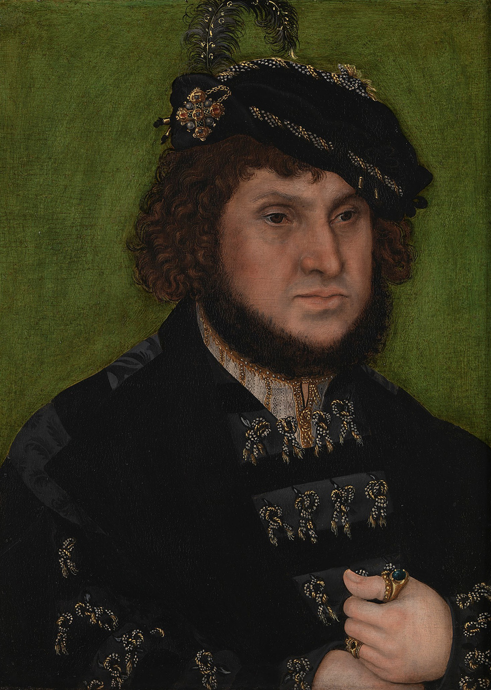 Lucas Cranach the Elder (1472-1553), Portrait of Johann the Steadfast, 1509, oil on wood.Photograph © The National Gallery, London