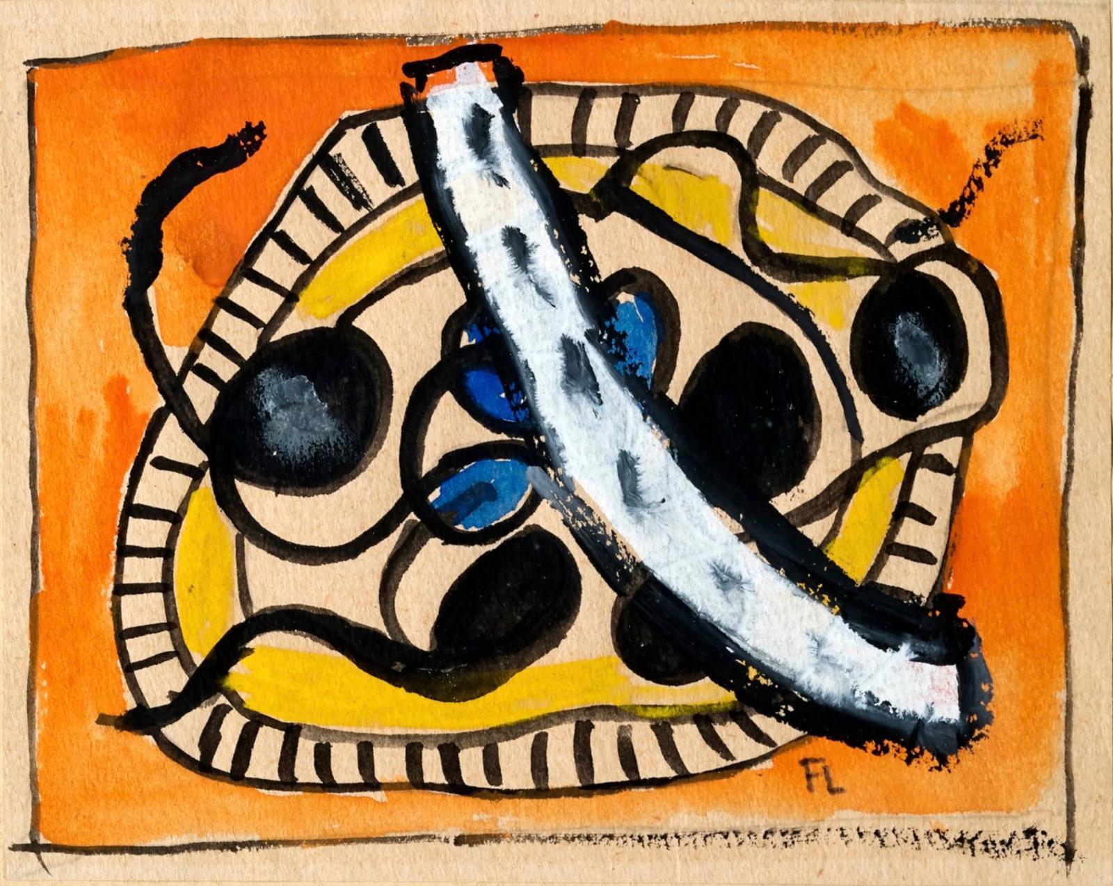 « Étude pour l'assiette de fruits » vers 1946Gouache sur papier11 x 13,8 cmVendue 9 216 €