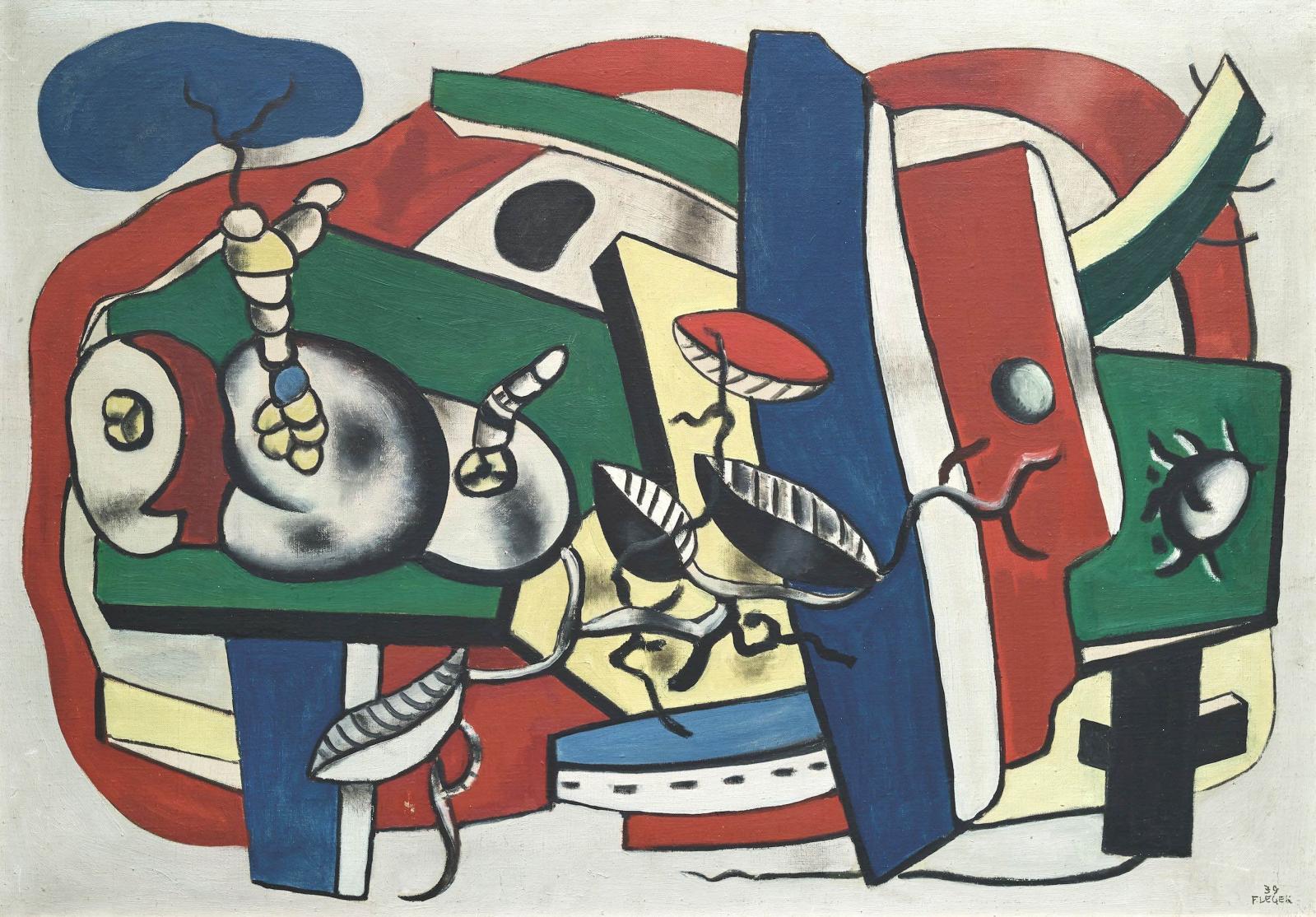 « Nature morte aux trois fruits », 1939Huile sur toileSignée F. LEGER et datée 39 en bas à droite65 x 92 cmVendue 844 800 €