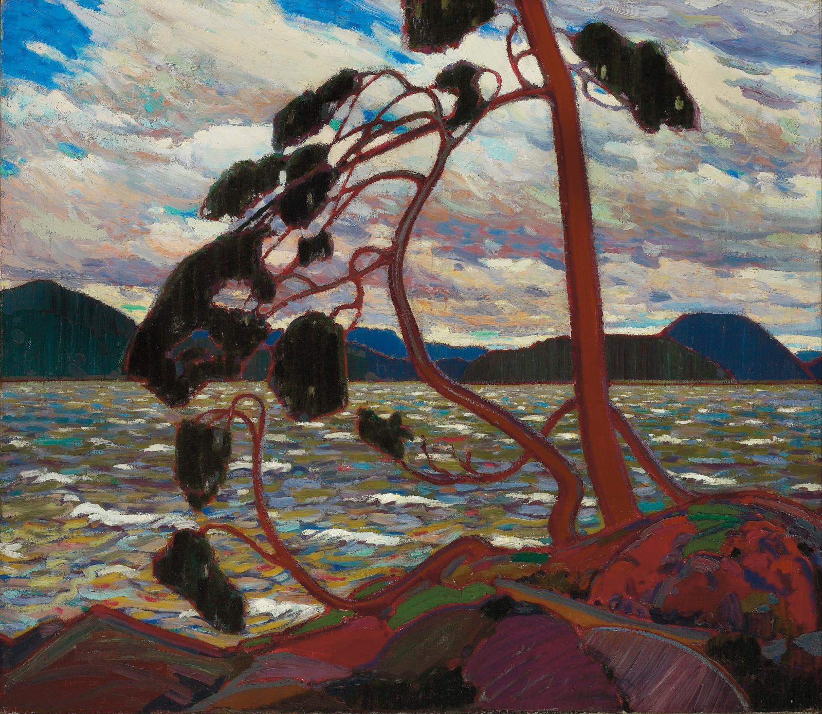 Tom Thomson, The West Wind (Le Vent d'ouest), 1917, huile sur toile, 120,7x137,2cm, musée des beaux-arts de l'Ontario.