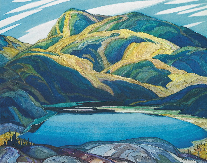 Franklin Carmichael, Lone Lake, 1929, aquarelle, 43,8x55cm, collection privée. DR