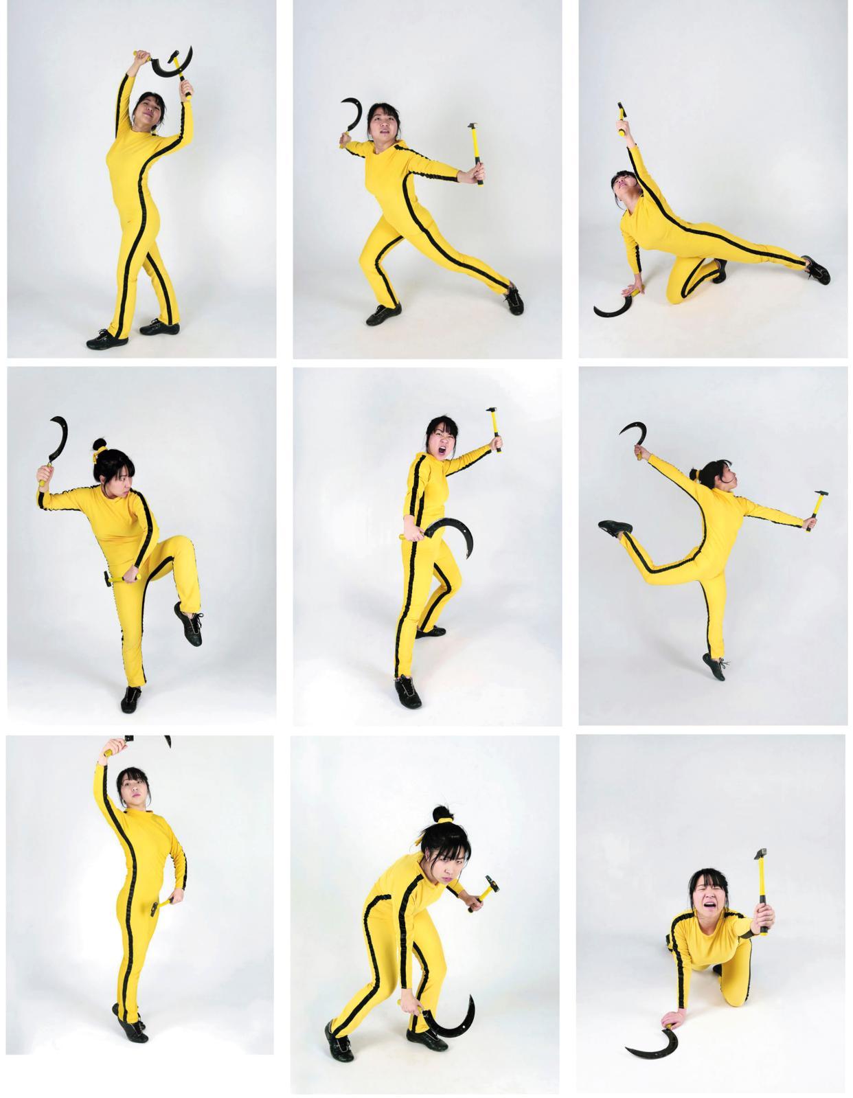 Yao Qingmei, Danse ! Danse ! Bruce Ling !, 2013, photographie, galerie Luisa Wang