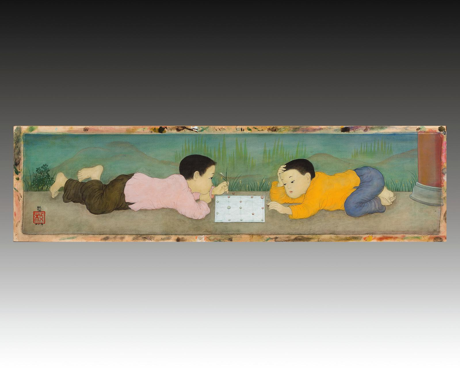 Le Vent, illustré par une création de Mai Trung Thu (1906-1980), datant de 1945 et décrochée à 195000€ (55x46cm, voirGazette n°34, p