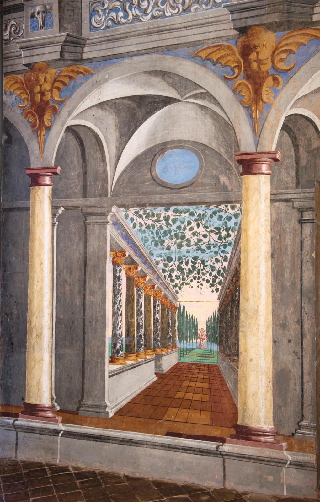 Pietro Ricchi, Salle des Perspectives, 1632 (detail).