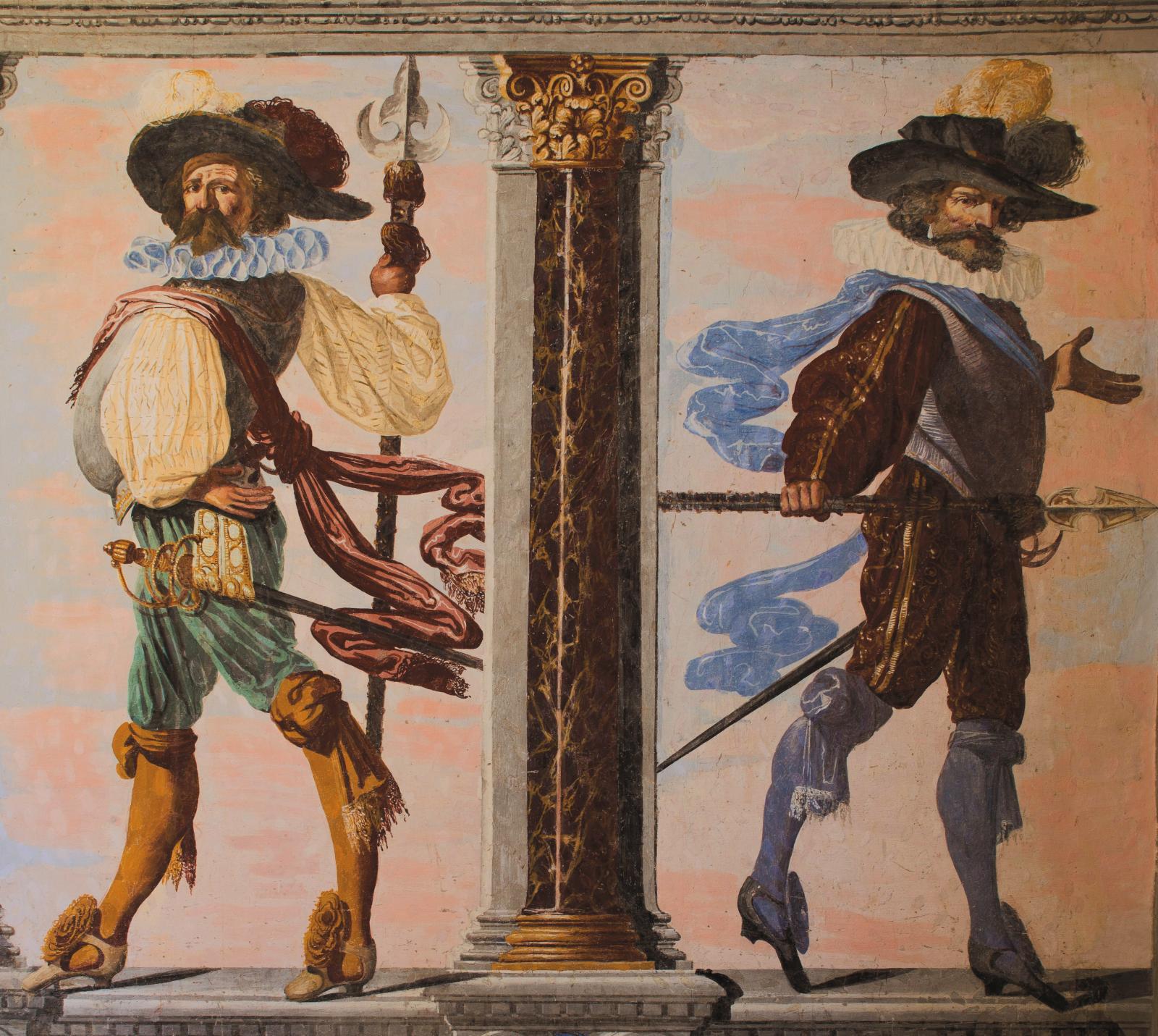 Pietro Ricchi, Chambre de la Parade, 1632 (detail).
