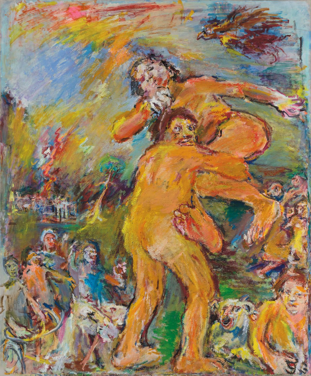 Oskar Kokoschka,Thésée et Antiope (Enlèvement d'Antiope), 1958-1975, huile sur toile, 195x 165 cm, fondation Oskar Kokoschka, musée Jeni