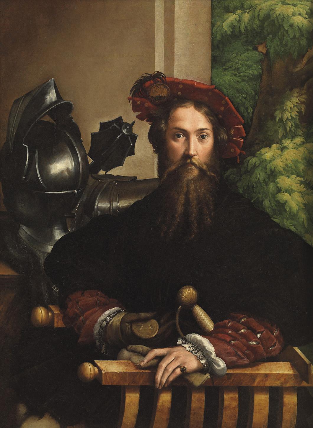 Parmigianino, Portrait de Galeazzo Sanvitale, peinture à l'huile sur toile, 1524, Museo e Real Bosco di Capodimonte. © Luciano Romano