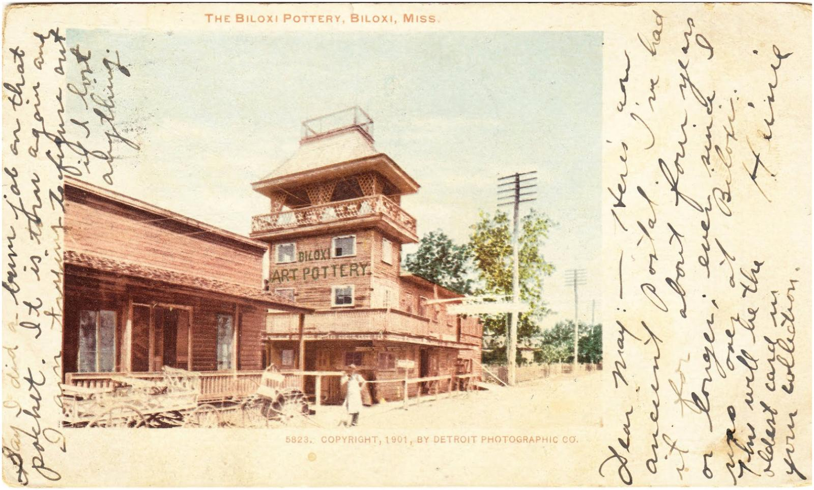 Detroit Photographic Co., postcard of George Ohr's Pottery Studio, c. 1901.Courtesy of the Ohr-O'Keefe Museum of Art, Biloxi, Mississippi,