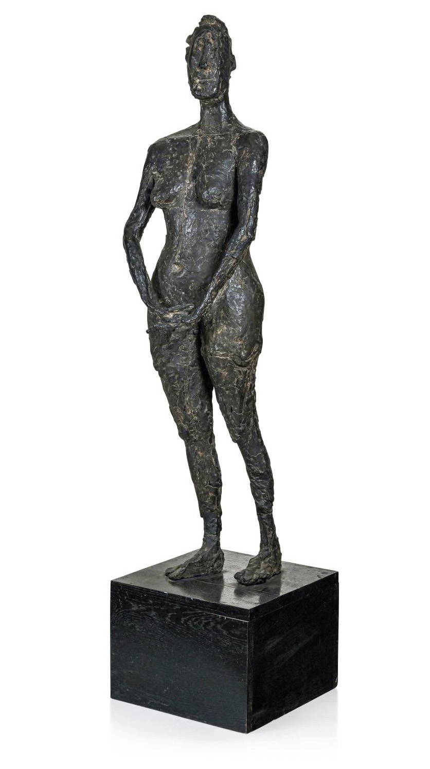 Germaine Richier (1902-1959), La Vierge folle (The Foolish Virgin), 1946, bronze with brown patina, 4/6, cast by Susse, 133 x 38 x 20.5 cm