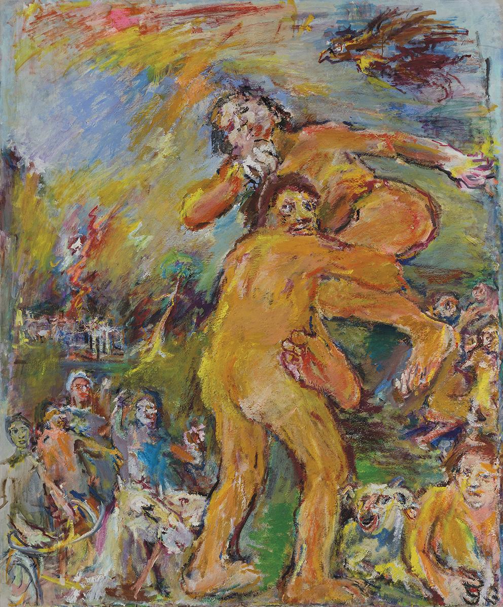 Thésée et Antiope (Enlèvement d'Antiope), 1958-1975, oil on canvas, 195 x 165 cm.Photo Julien Gremaud, Vevey.