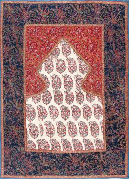 €3,456Cashmere prayer rug, north-west India, early 19th century, 25.2 x 37 in.Paris, Drouot, April 11, 2016. Gros & Delettrez auction hous