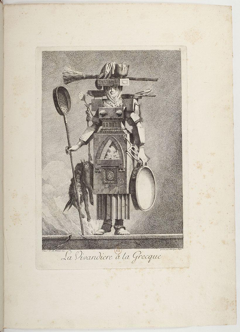Ennemond Alexandre Petitot (1727-1801), Mascarade à la grecque, d'après les dessinsoriginaux tirés du cabinet de monsieur le Marquis de F