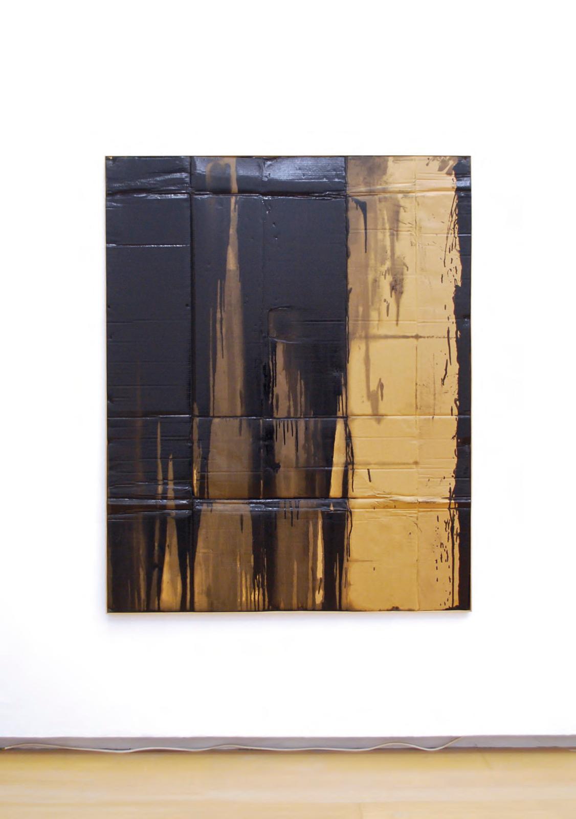 "Bernar Venet (b. 1941), ""Déchet"", 1961, industrial paint on cardboard, 150 x 120 cm."
