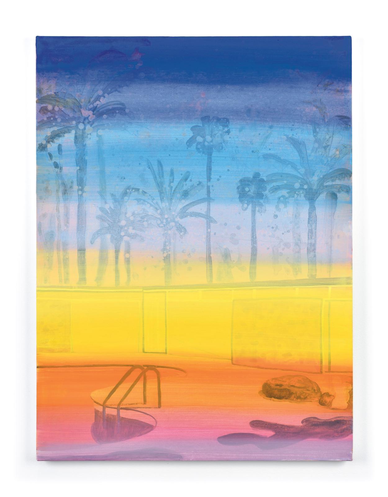 Vanessa Fanuele, Ultra 11 ,2020, huile sur toile, 80 x 60 cm. COURTESY GALERIE POLARIS