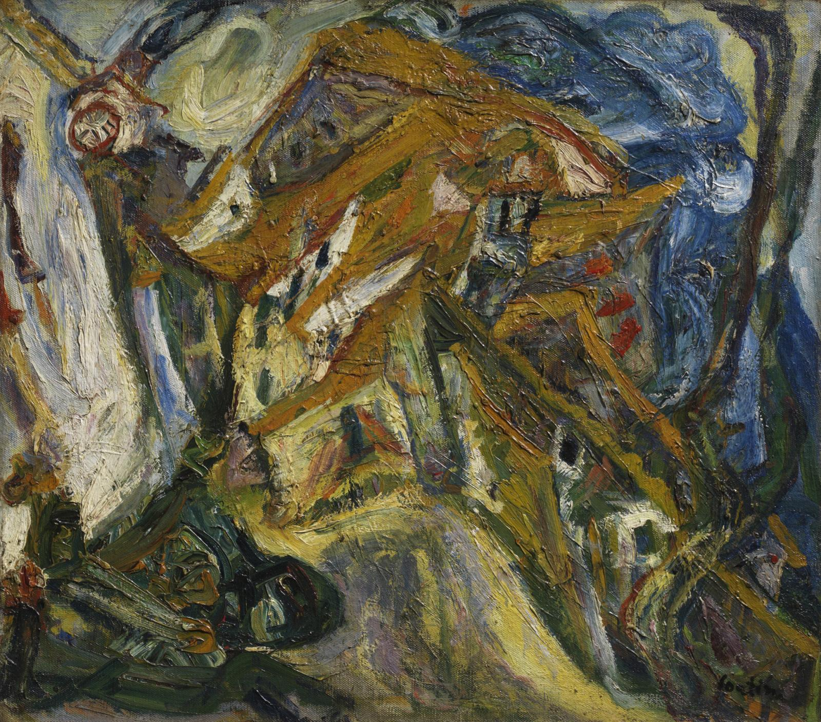Chaïm Soutine (1893-1943), View of Céret, c. 1921-22, oil on canvas, 74 x 85.7 cm (29 1/8 x 33 3/4 in.)Courtesy of The Henry and Rose Pear