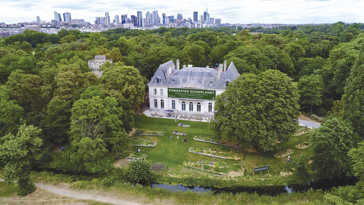 La fondation GoodPlanet, au château de Longchamp. © MARCO STRULLU