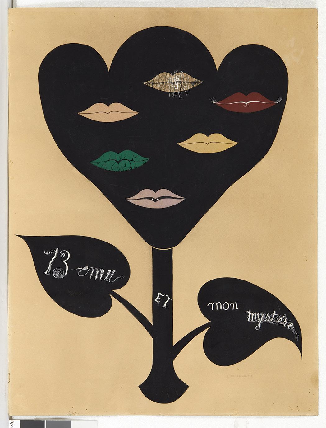 Victor Brauner (1903-1966), 13 ému et mon mystère, 1936, gouache, 65 x 49,5 cm. Estimation:12 000/15 000 €