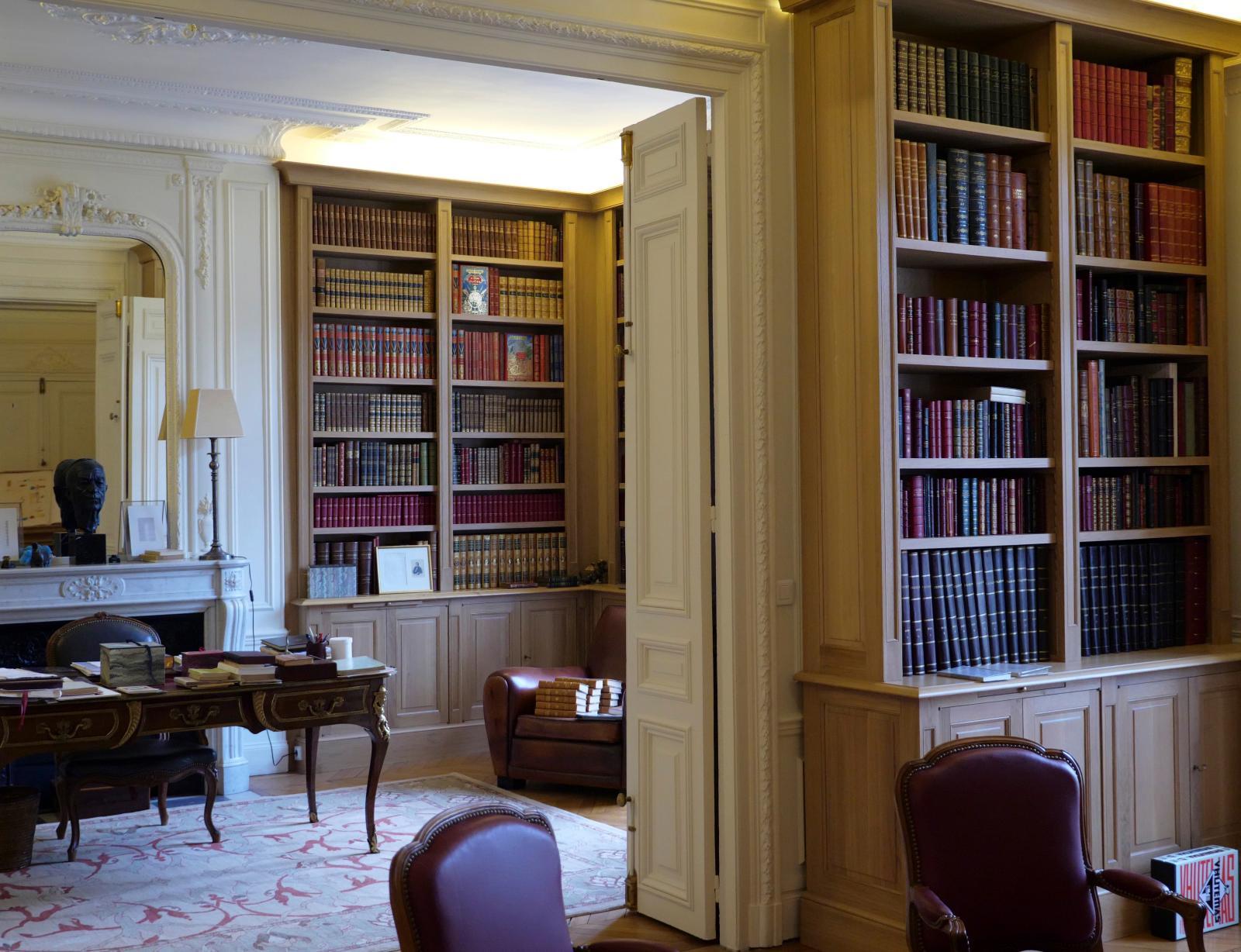 La bibliothèque de Jacques Letertre à Paris.