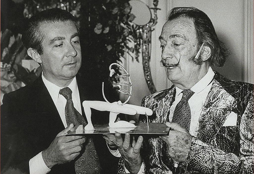 Dalí and André-François Petit at the Hôtel Meurice in the 1960sPhoto Bénédicte Petit